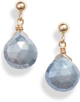 ela rae Semiprecious Stone Drop Earrings