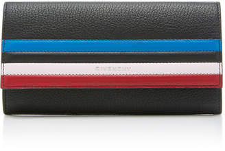 Givenchy Pandora Striped Textured-Leather Wallet