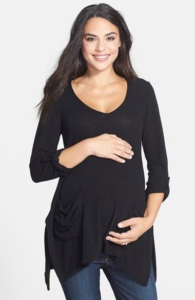 Harlow Nom Maternity 'Harlow' Space Dye Maternity Tunic