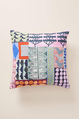Anthropologie Soma Embellished Pillow