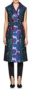 BYT Women's Jacquard Belted Vest - Royal Multi
