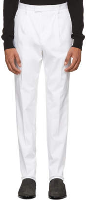 BOSS White T-Borden Slim Trousers