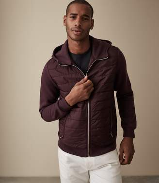 Reiss HAMISH QUILTED JACKET Bordeaux
