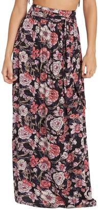 Billabong High Tides Floral Print Maxi Skirt