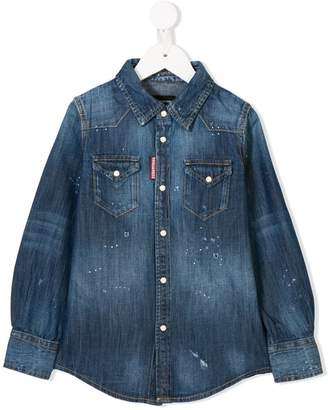 DSQUARED2 washed out denim shirt