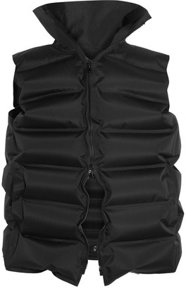 Inflatable Quilted Shell Vest - Black