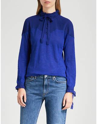 Claudie Pierlot Tony frilly linen blouse