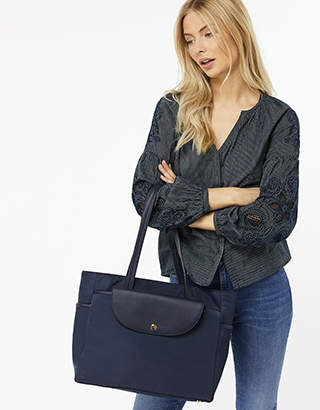 Monsoon Naomi Nylon Shopper Bag