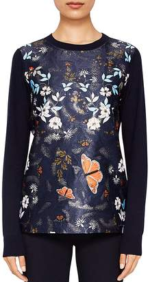 Ted Baker Khlo Kyoto Gardens Jacquard Sweater $209 thestylecure.com