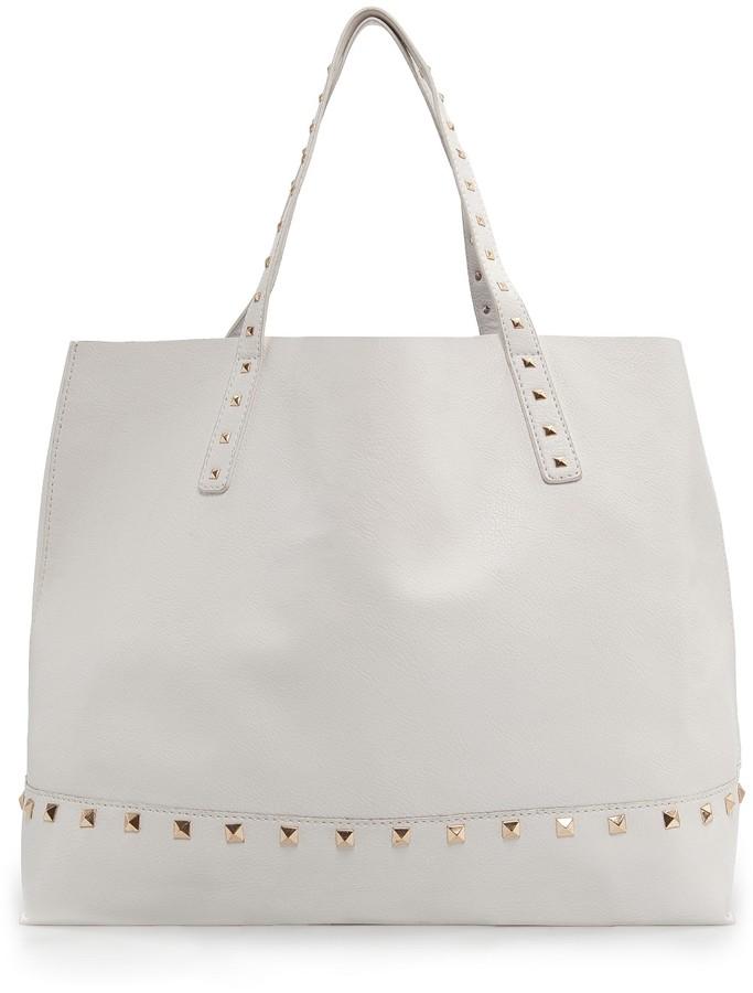 MANGO Studded shopper bag
