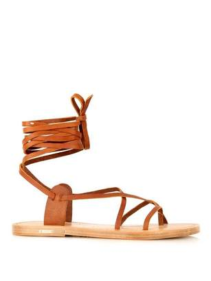 Isabel Marant Étoile Amy wraparound leather sandals