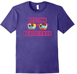 Resting Beach Face TShirt with Sunglasses Graphic