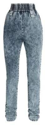 Miu Miu Acid Wash Elastic Waist Jeans