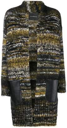 John Richmond chunky knit striped cardigan