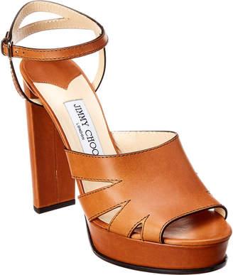 Jimmy Choo Hermione 120 Leather Platform Sandal