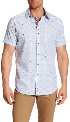 Robert Graham Sierra Madre Short Sleeve Classic Fit Dress Shirt $158 thestylecure.com