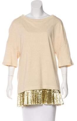 Dries Van Noten Embellished Knit Sweatshirt