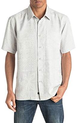 Quiksilver Men's Aganoa Bay 4 Comfort Fit Button Down Casual Shirt