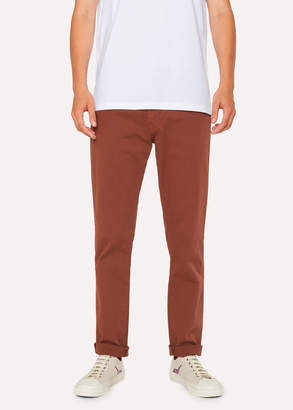 Paul Smith Men's Tapered-Fit Rust Garment-Dye Jeans