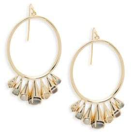 Alexis Bittar Goldtone & Multi-Color Lucite Hoop Dangle Earrings