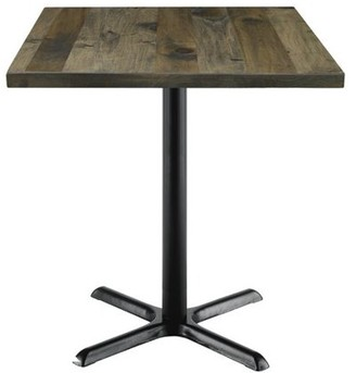 "LOFT Kfi KFI Urban 36"" Square Vintage Wood Breakroom Table, Barnwood"