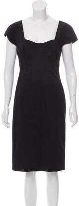 Narciso Rodriguez Woven Midi Dress