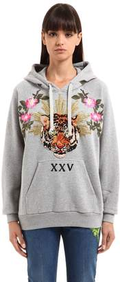 Gucci Oversized Tiger Patch Hooded Sweatshirt