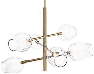 John-Richard Collection Glass Globe 6-Light Pendant - Brass/Clear