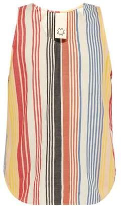 Marrakshi Life - Striped Cotton Blend Tank Top - Mens - Multi