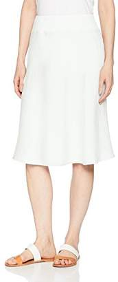 Three Dots Women's Woven Linen Mid Loose Skirt