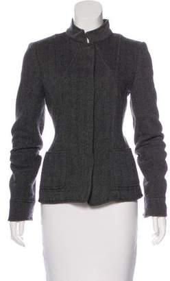 Armani Collezioni Mock Neck Textured Jacket