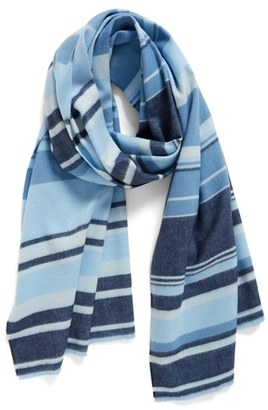 Women's Nordstrom Variegated Stripe Wrap $69 thestylecure.com