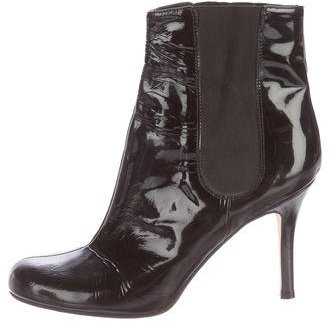 Kate Spade New York Round-Toe Patent Leather Ankle Boots
