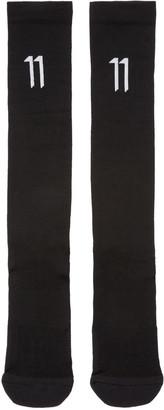 11 by Boris Bidjan Saberi Black Logo Socks $50 thestylecure.com