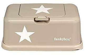 BEIGE Funkybox Baby Wipes Box Star Motif