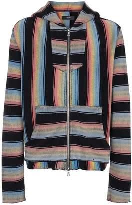 Amiri Baja striped zip-up hoodie