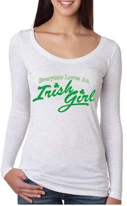 DAY Birger et Mikkelsen Allntrends Women's Shirt Everyone Loves An Irish Girl St Patrick's Shamrock (S, )