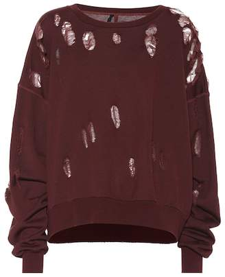 Unravel Distressed cotton sweatshirt