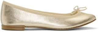 Repetto Gold Metallic Cendrillon Ballerina Flats