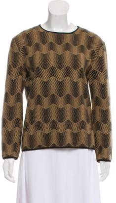 TSE Patterned Cashmere Sweater brown Patterned Cashmere Sweater
