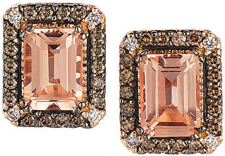 LeVian Le Vian Chocolatier 14K Rose Gold 1.83 Ct. Tw. Diamond & Morganite Drop Earrings