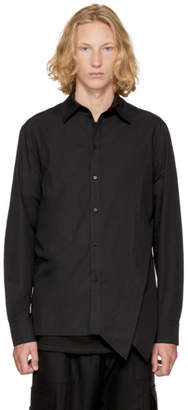 D.gnak By Kang.d Black Side Folded Shirt
