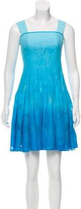 Diane von Furstenberg Pleated Sleeveless Mini Dress