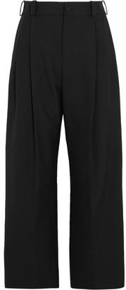 Lanvin - Cropped Twill Wide-leg Pants - Black $630 thestylecure.com