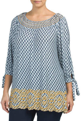 Plus Dream Chaser Printed Top