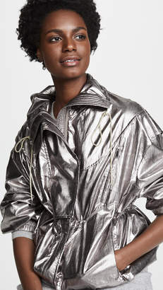 Jason Wu Grey Metallic Foil Drawstring Jacket