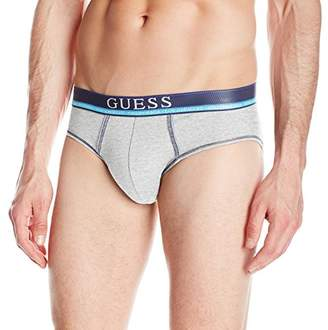 GUESS Men's Contrast Stitch Logo Band Briefs