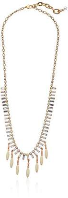 """m. haskell Purple by Mini Statements"""" -Colored Shaky Bead Long Necklace"""