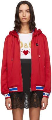 Dolce & Gabbana Red Track Hoodie
