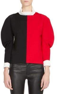 Haider Ackermann Colorblock Wool Turtleneck Sweater